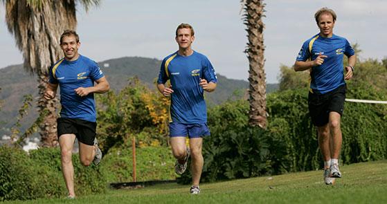 John Mills training with Subaru