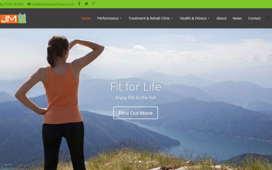 Screenshot of home page